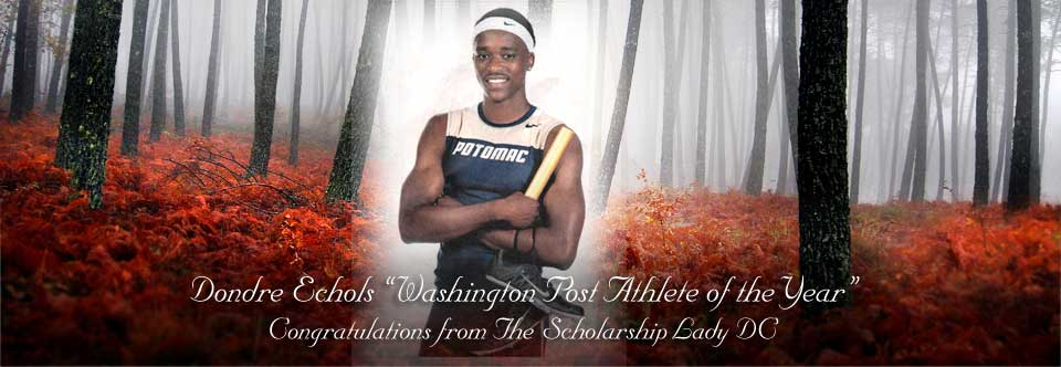 "Dondre Echols ""Washington Post Athlete of the Year"""